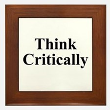 Think Critically Framed Tile
