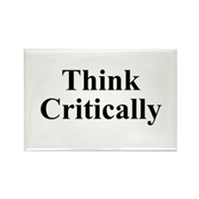 Think Critically Rectangle Magnet (10 pack)