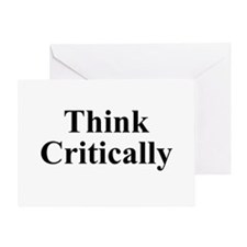 Think Critically Greeting Card