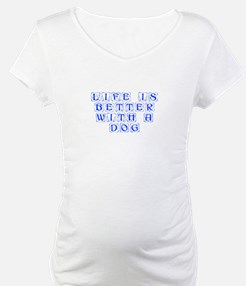 Life is better with a dog-Kon blue Shirt