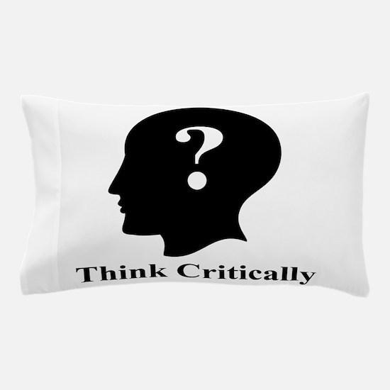 Think Critically Logo Pillow Case
