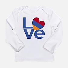 Blue Armenia LOVE Long Sleeve T-Shirt