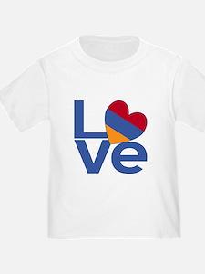 Blue Armenia LOVE T-Shirt