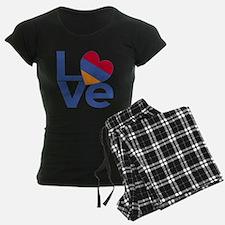 Blue Armenia LOVE Pajamas