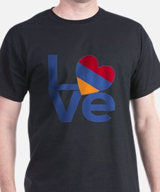 Blue Armenia LOVE T-Shirt