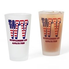 West Virginia WV Mountaineers are a Drinking Glass
