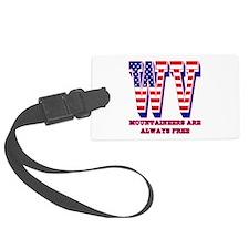 West Virginia WV Mountaineers ar Luggage Tag