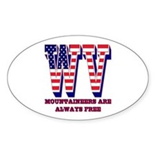 West Virginia WV Mountaineers are a Decal