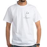 Volleyball Stick Figure White T-shirt