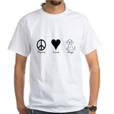 Peace Love Dogs White T-shirt