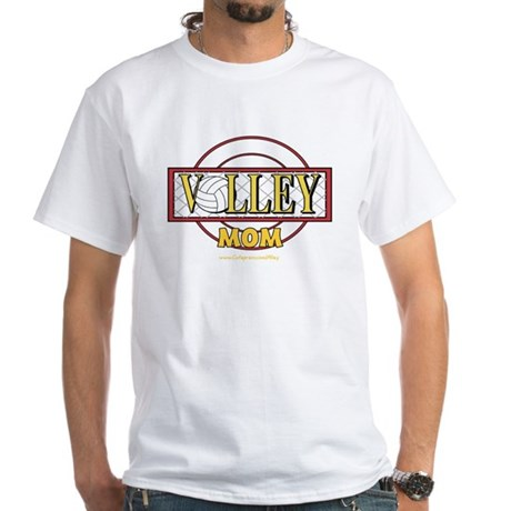 Volley Mom White T-shirt