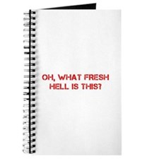 Oh what fresh hell is this-Cap red Journal