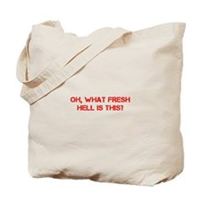 Oh what fresh hell is this-Cap red Tote Bag