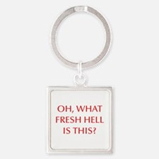 Oh what fresh hell is this-Opt red Keychains