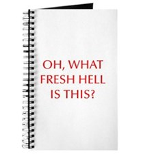 Oh what fresh hell is this-Opt red Journal