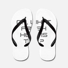 Oh what fresh hell is this-Sav gray Flip Flops