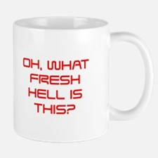 Oh what fresh hell is this-Sav red Mugs