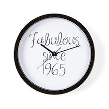 fabulous since 1965-MAS gray Wall Clock