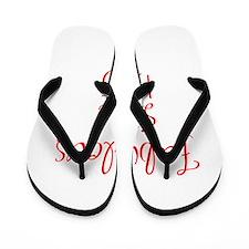fabulous since 1965-MAS red Flip Flops