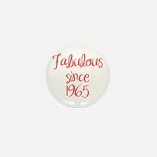 fabulous since 1965-MAS red Mini Button (10 pack)