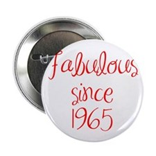 "fabulous since 1965-MAS red 2.25"" Button (10 pack)"