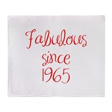 fabulous since 1965-MAS red Throw Blanket