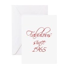 fabulous since 1965-Scr red Greeting Cards