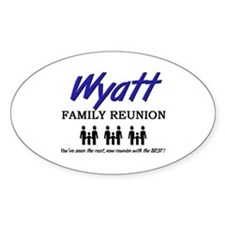 Wyatt Family Reunion Oval Decal