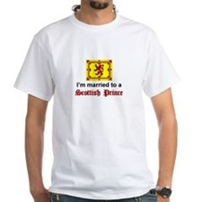 Married To A Scottish Prince White T-shirt