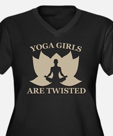 yoga girls are twisted Plus Size T-Shirt
