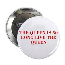 """Queen is 50-Bod red 2.25"""" Button (10 pack)"""