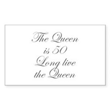 Queen is 50-Edw gray Decal