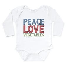 Cute Vegan Long Sleeve Infant Bodysuit