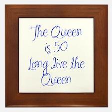 Queen is 50-MAS blue Framed Tile