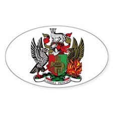 Coventry City Coat of Arms Oval Decal