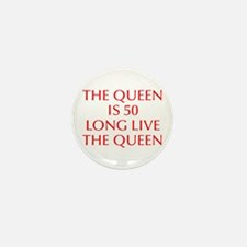 Queen is 50-Opt red Mini Button (10 pack)