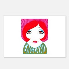 England, English Pop Girl Postcards (Package of 8)
