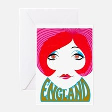 England, English Pop Girl Greeting Cards