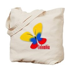 Colombian flag butterfly Tote Bag
