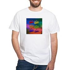 RAINBOW BEAR PAWS ON RAINBOW White T-shirt