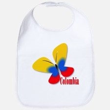 Cute Colombian Butterfly Bib