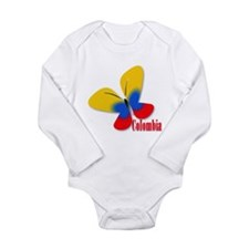 Cute Colombian Butterf Long Sleeve Infant Bodysuit