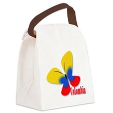 Cute Colombian Butterfly Canvas Lunch Bag