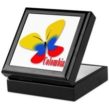 Cute Colombian Butterfly Keepsake Box