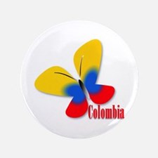 "Cute Colombian Butterfly 3.5"" Button"