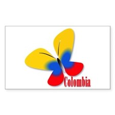 Cute Colombian Butterfly Decal