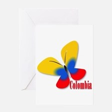 Cute Colombian Butterfly Greeting Card