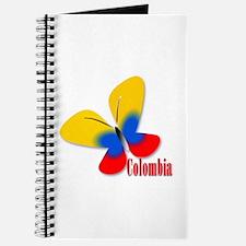 Cute Colombian Butterfly Journal