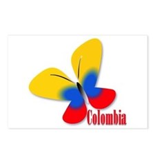 Cute Colombian Butterfly Postcards (Package of 8)