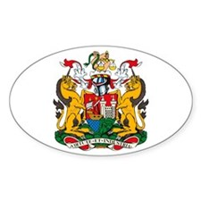 Bristol City Coat of Arms Oval Decal
